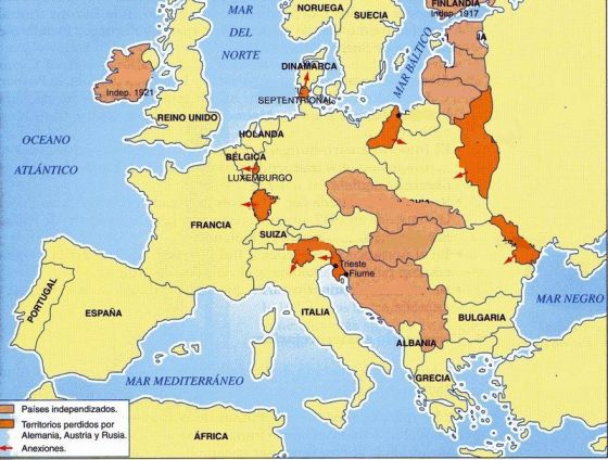 Map Quiz Europa 1919 Tratado De Versalles Mapa De 1919
