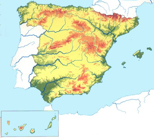 Mapa Interactivo Relieve De Espana Geografia De Espana Relieve
