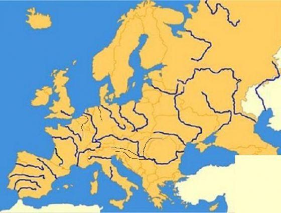 Mapa Rios De Europa.Map Quiz Europa Rios Geografia Ulises Europa Rios