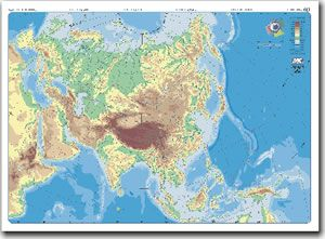 Mapa Fisico De Asia Interactivo.Map Quiz Mapa Fisico Asia 1º Eso Mapa Fisico Asia