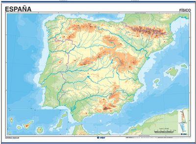 Mapa De España Físico.Mapa Interactivo Mapa Fisico De Espana Geografia Fisica