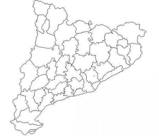 Mapa Físic De Catalunya Mut.Map Quiz Les Comarques De Catalunya Mapa