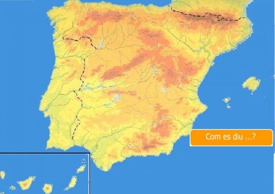 Mapa Fisic Espanya Mut.Interactive Map Espanya Relleu Relleu Relleu D Espanya
