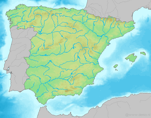 Mapa Fisico Peninsula Iberica Rios.Print Rios De La Peninsula Iberica 1 1º E S O Jose Julio