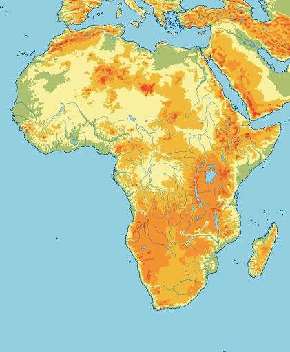 Map Quiz Africa Fisico 5º Primaria Sociologia 5º Educacion