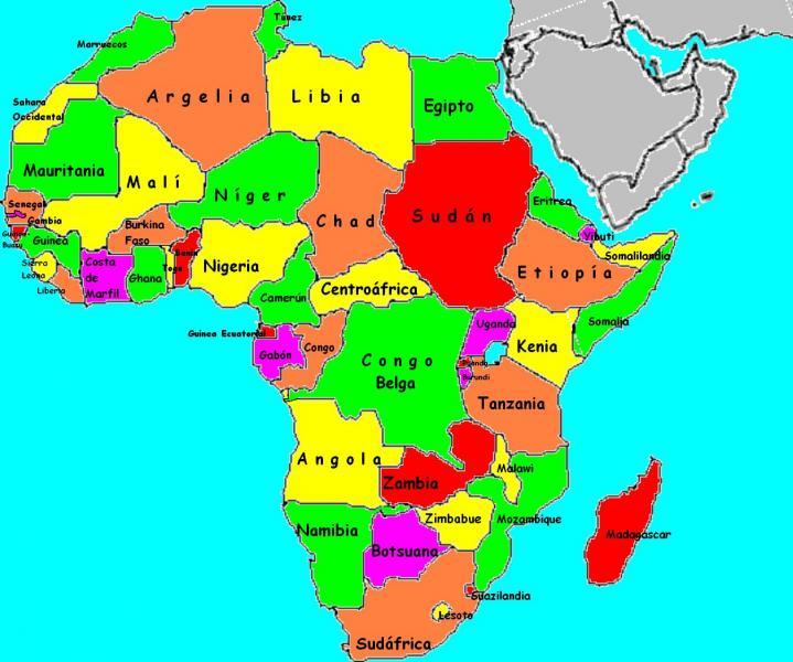 Mapa De Africa Interactivo.Mapa Interactivo Capitales De Africa Historia 3º