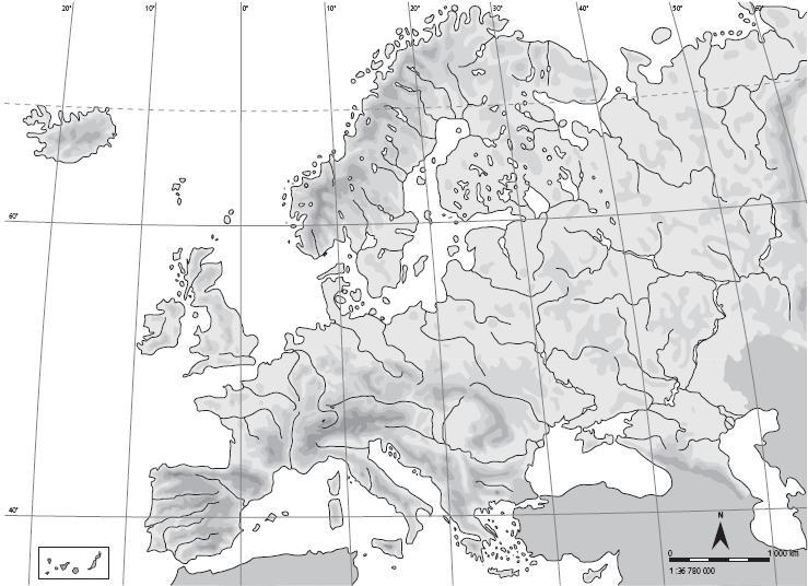 Mapa Europa Fisico Mudo.Mapa Interactivo Geografia Fisica Europa Geografia 1º