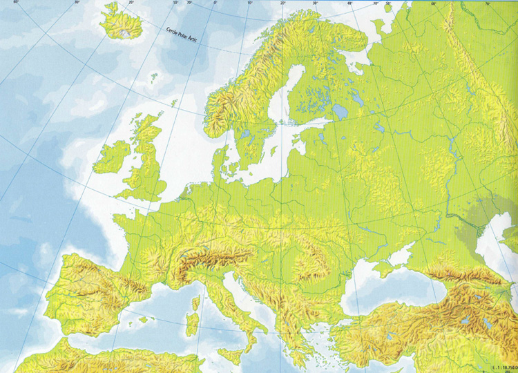 Mapa Fisic D Europa Rius.Mapa Interactivo Rius I Llacs D Europa Geografia 1º