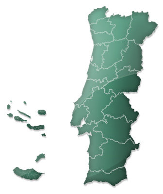Map Quiz Distritos De Portugal E Arquipelagos Geography