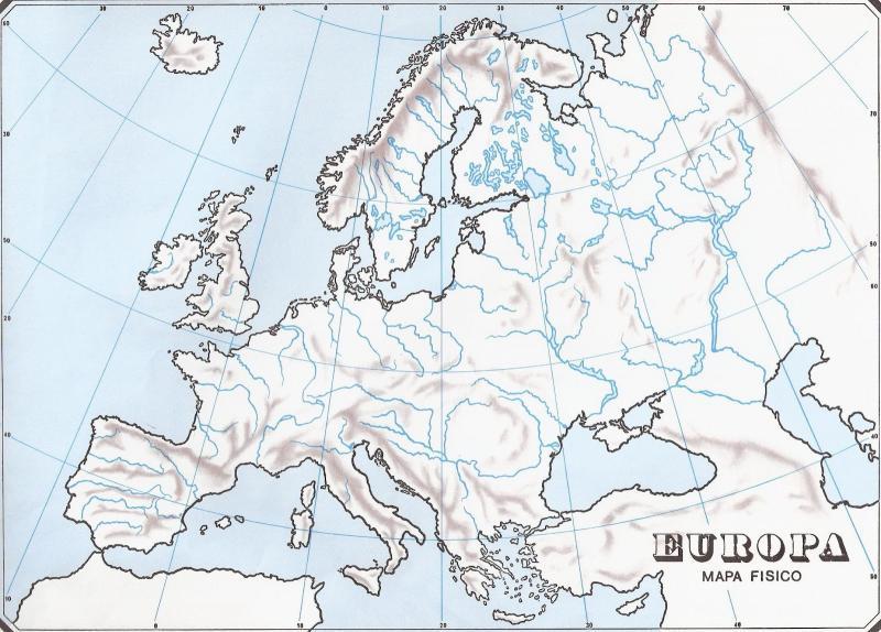 Mapa Fisic D Europa Rius.Map Quiz Mares Y Rios De Europa D Geografia Fisica