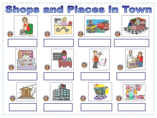 Mapa Interactivo: Shops and Places in town (lengua extranjera - 3º ...