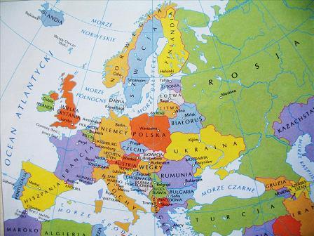 Map Quiz Panstwa Europy Geography Mapa Europa