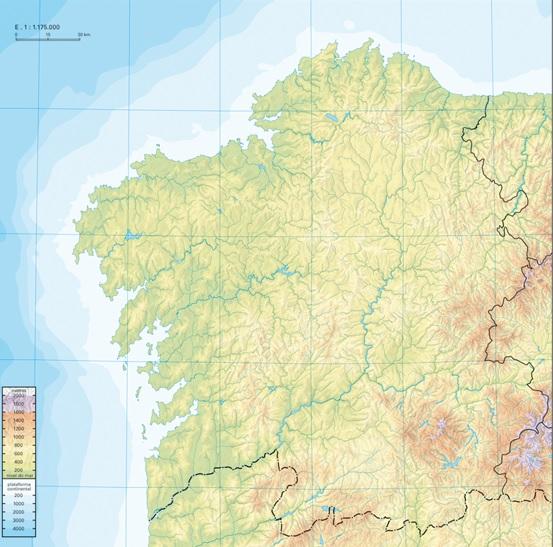Mapa De Galicia Fisico Mudo.Mapa Interactivo Mapa Fisico Galicia D Galicia Mapa
