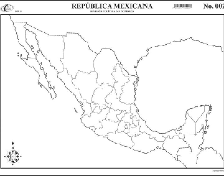 Mapa Interactivo República Mexicana Geografía 3º Bachillerato