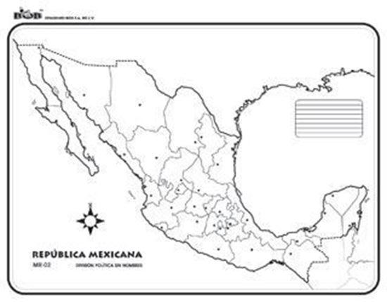 Map Quiz Mapa De República Mexicana Geografía 1º Educación