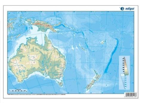 Map Quiz Oceania Geography Oceania 1r Eso Geografia Oceania