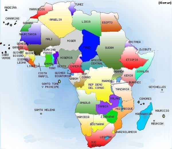 Mapa De Africa Interactivo.Mapa Interactivo 15 Paises Y Capitales Nepad Geografia