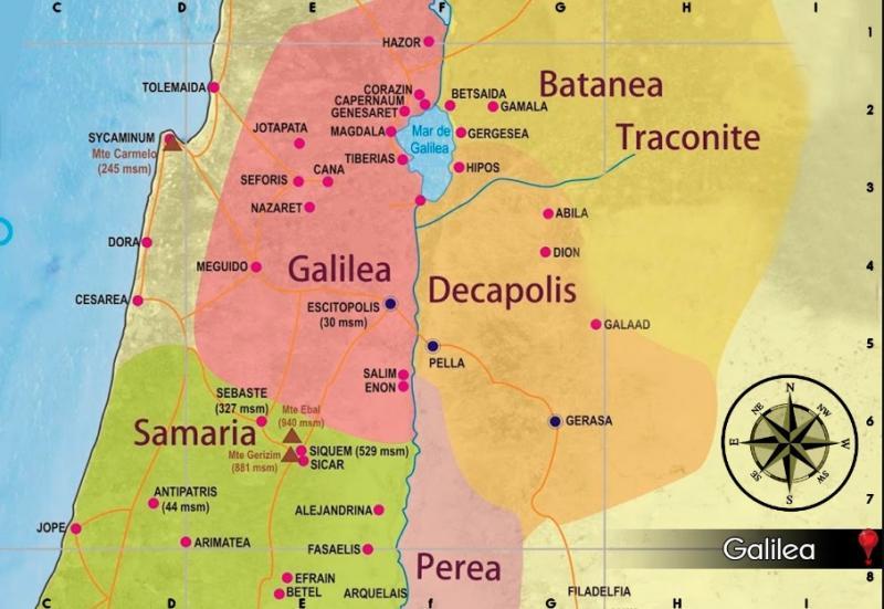Print Map Quiz: Ciudades de Galilea (evangelio)