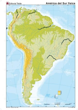 Mapa Interactivo Mapa Fisico De America Del Sur Mapa