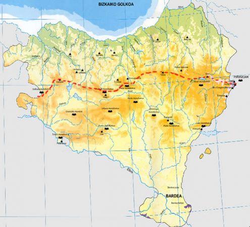 Mapa Fisico De Euskal Herria Para Imprimir.Mapa Interactivo Rios Euskal Herria Rios Euskal Herria