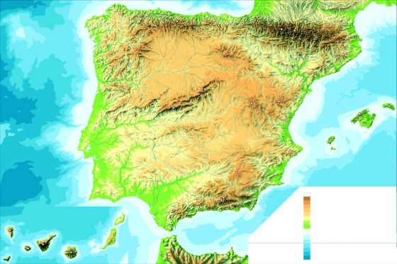 Sistemas Beticos Mapa Fisico.Print Mapa Fisico De Espana Mapa Fisico De Espanaa Ana