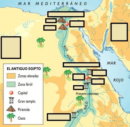 Mapa De Egipto Antiguo.Mapa Antiguo Egipto Egipto Eloy Antonio Leon Parra Educaplay