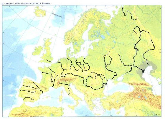 Map Quiz Mapa De Los Rios De Europa Geografia Fisica