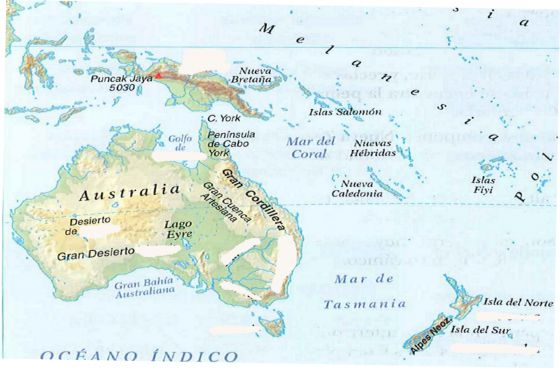 Mapa Politico Oceania Interactivo.Mapa Interactivo Relieve De Oceania Mapa Relieve Oceania