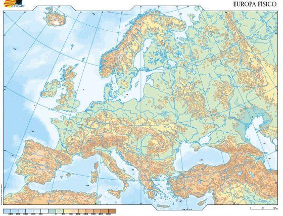 Mapa Mudo Relieve Europa.Mapa Interactivo Relieve De Europa Mapa Europa Relieve