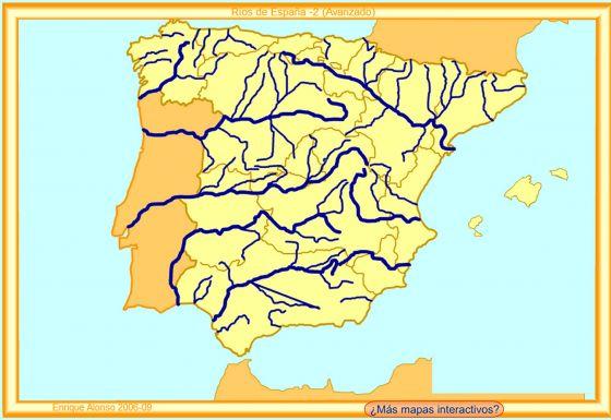 Mapa Rios España Interactivo.Mapa Interactivo Principales Rios Espanoles 6º Mapa