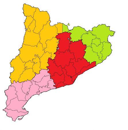Mapa Comarques De Catalunya Per Imprimir.Mapa Interactivo Comarques De Catalunya Situa Al Mapa