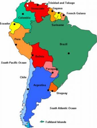 Mapa Interactivo De America Central Politico Capitales