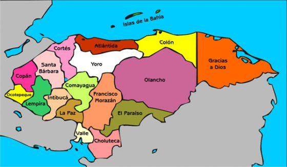 Map Quiz Mapa De Honduras Mapa De Honduras