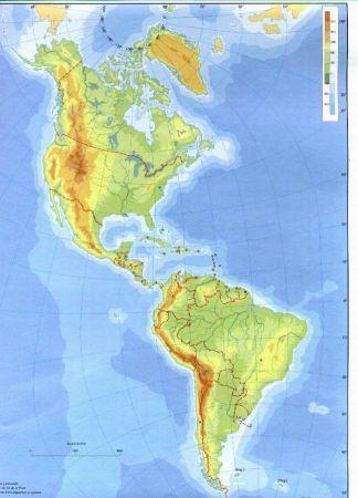 Mapa Fisico De America.Map Quiz Mapa Fisico America 1º Eso Relieve America