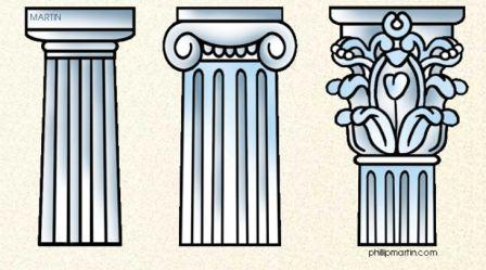 Resultado de imagen de columnas griegas para niños