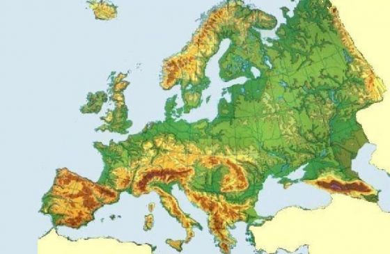 Print Map Quiz Physical Features Europe European Physical Map