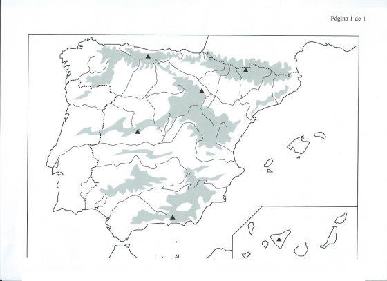 Cabo Ortegal Mapa Fisico.Imprimir Mapa Fisico Espana Mapa Fisico Raquel Villaverde