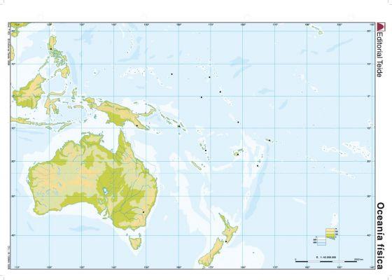 Print Map Quiz Mapa Oceania Mapa Interactivo