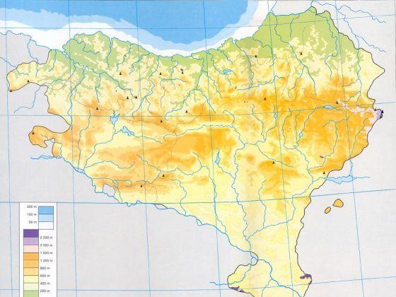 Mapa Fisico De Euskal Herria Para Imprimir.Mapa Interactivo Euskal Herriko Mendiak Euskal Herria