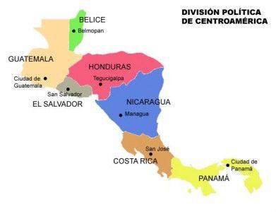 Mapa De Centro America.Map Quiz America Central Mapa Interactivo