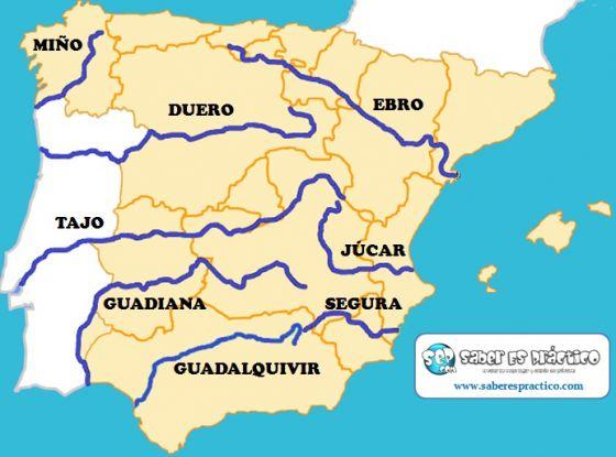 Print Map Quiz Mapa Rios Espana Mapa Espana Rios
