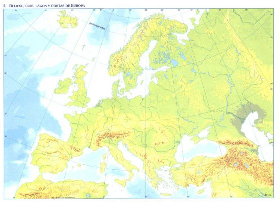 Mapa Europa Fisico Rios.Mapa Interactivo Rios Lagos E Mares De Europa Rios De Europa