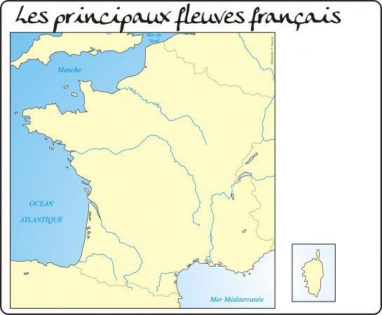 Carte des fleuves français