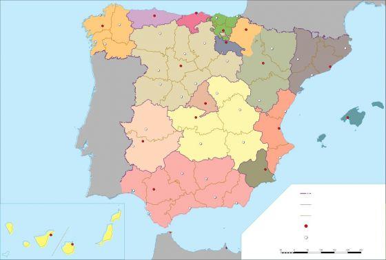 Mapa Interactivo Gentilicios Españoles 1 Gentilicios Provincias