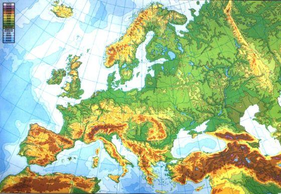 Mapa Interactivo Penínsulas E Islas De Europa Europa Física