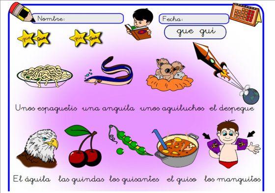 Map Quiz Palabras Con Gue Y Gui Lengua Gue Y Gui