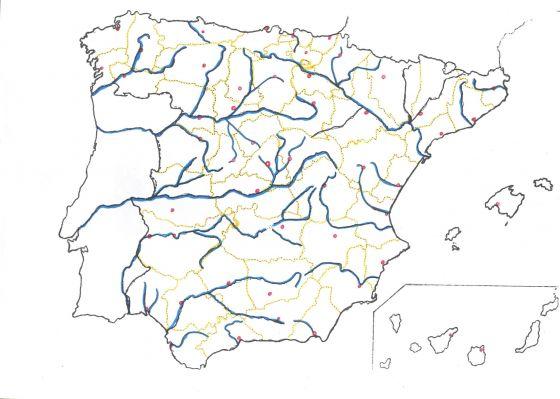 Mapa Rios De España 6 Primaria.Mapa Interactivo Rios Vertiente Atlantica Rios Vertiente