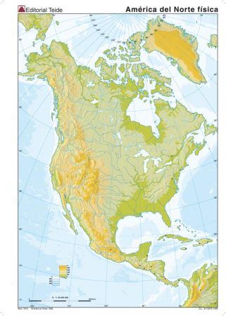 Map Quiz America Norte Relieve America