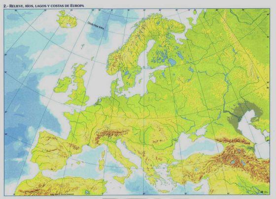 Mapa Fisic D Europa Rius.Map Quiz Rios De Europa Europa Rios