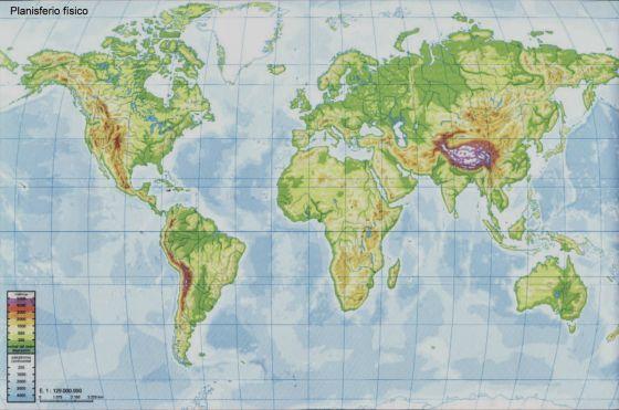 Mapa Interactivo Geografia Mapa Fisic Del Mon Eso Rius